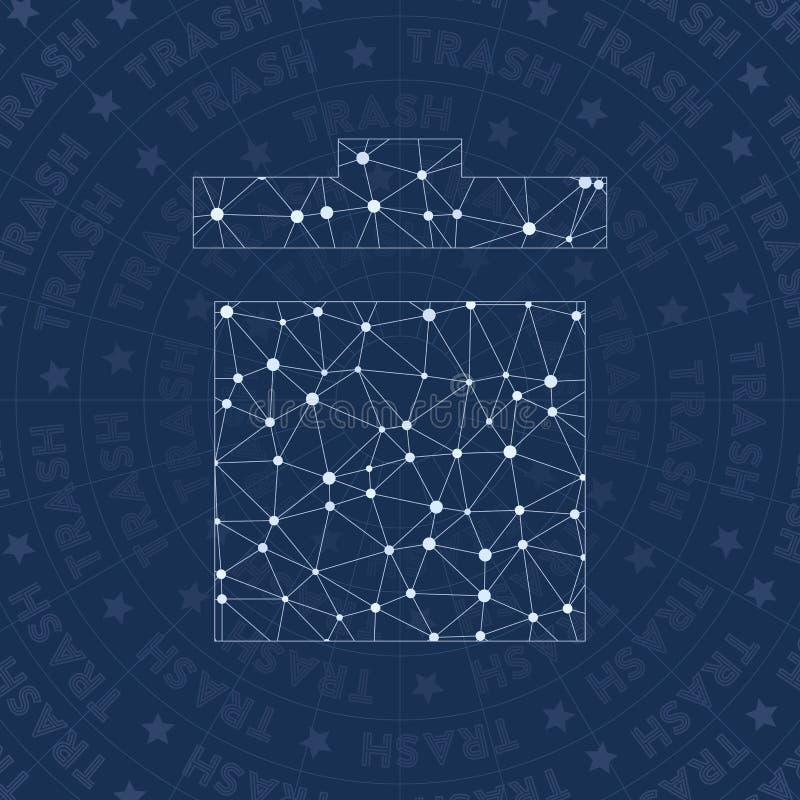 Símbolo de la red de la basura stock de ilustración