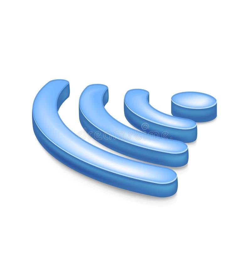 Símbolo de la red inalámbrica ilustración del vector