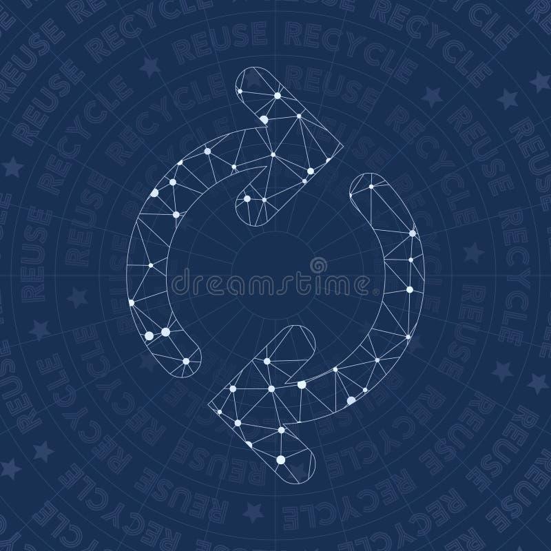 Símbolo de la red de la reutilización libre illustration