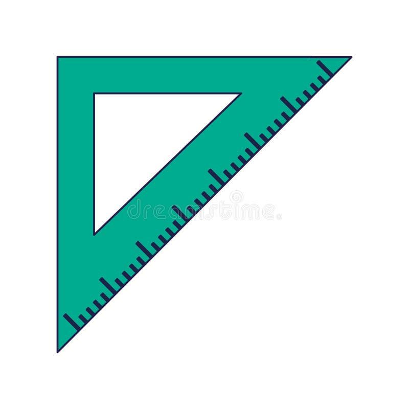 Símbolo de la regla del triángulo stock de ilustración