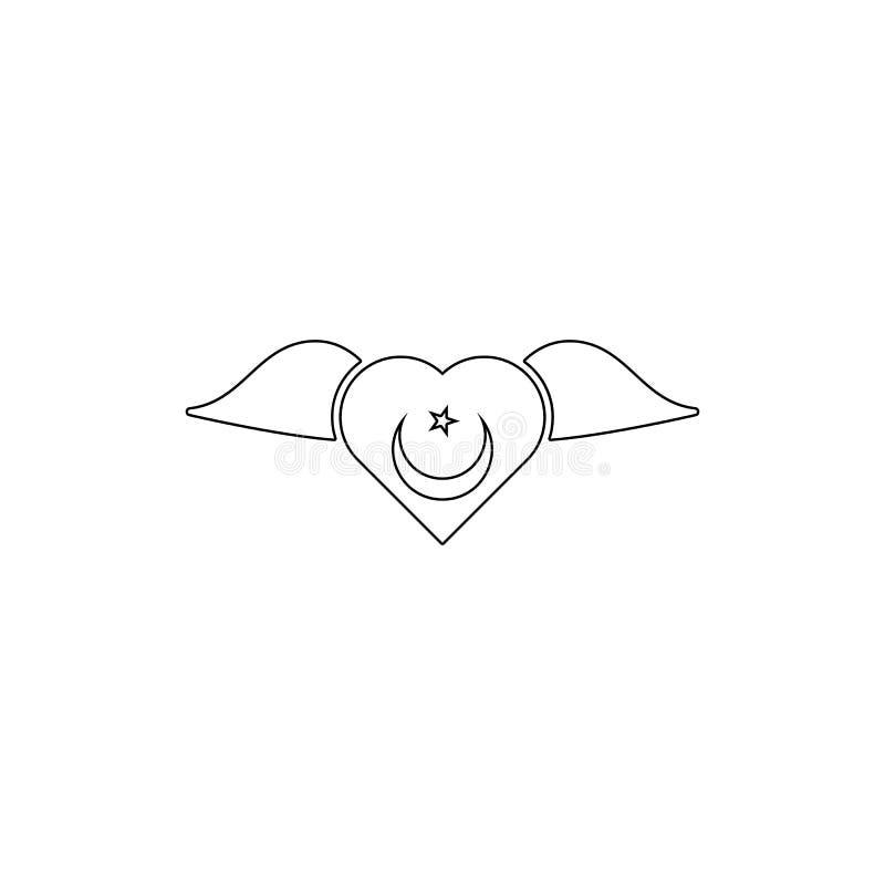 Símbolo de la religión, icono del esquema del Sufism Elemento del ejemplo del s?mbolo de la religi?n Las muestras y el icono de l stock de ilustración