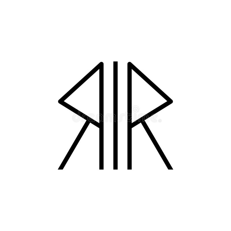 Símbolo de la religión, icono nórdico del paganismo Elemento del ejemplo del símbolo de la religión Las muestras y el icono de lo stock de ilustración