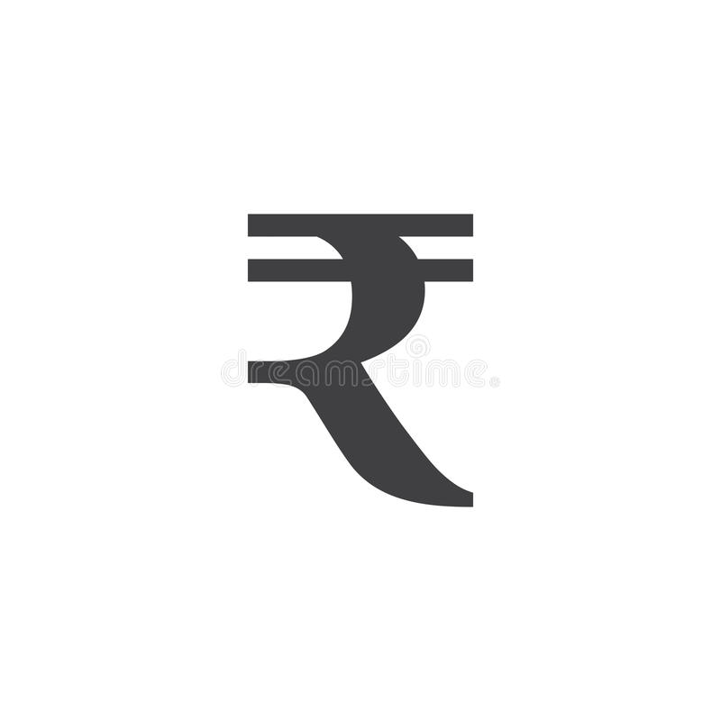 Símbolo de la rupia firme, ejemplo sólido del logotipo, pictograma es stock de ilustración