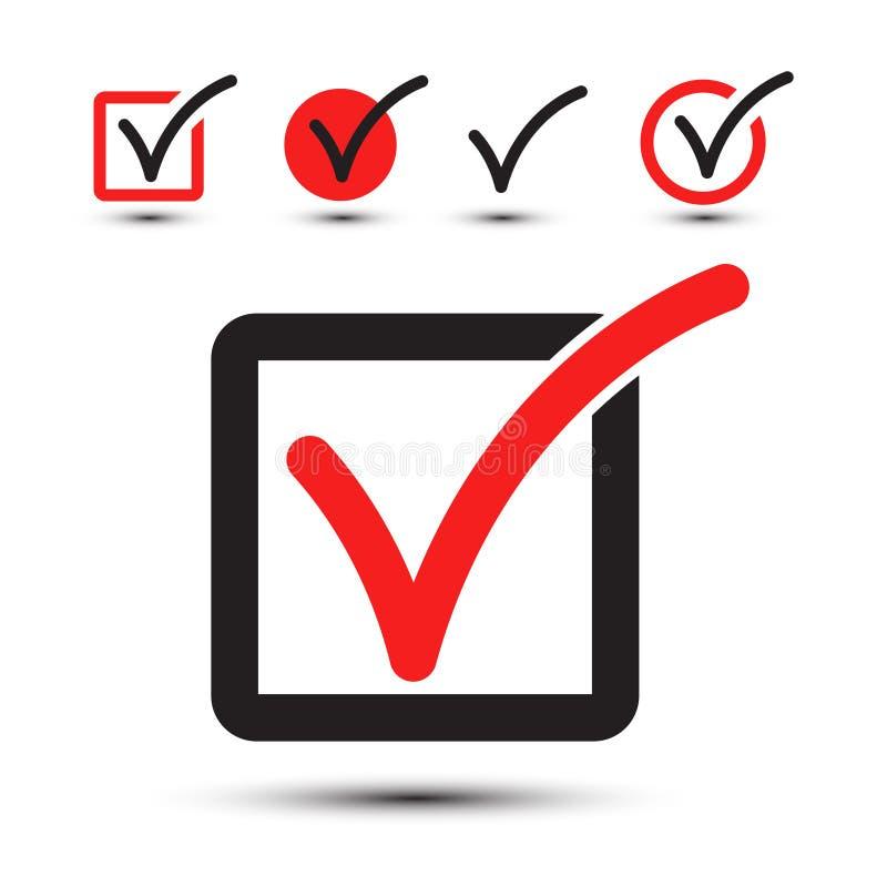 Símbolo de la señal Sistema del icono del Checkbox del vector stock de ilustración