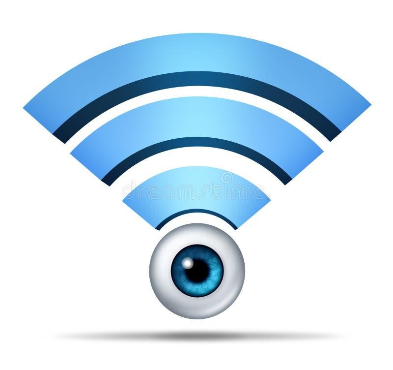 Símbolo de la seguridad de la red inalámbrica ilustración del vector