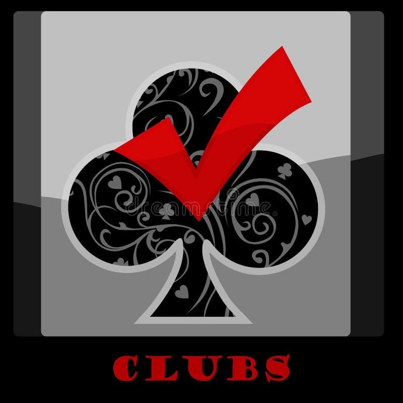 Símbolo de la tarjeta del club ilustración del vector