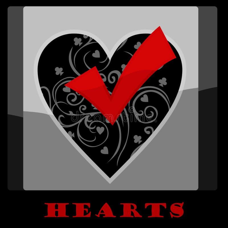 Símbolo de la tarjeta del corazón fotografía de archivo