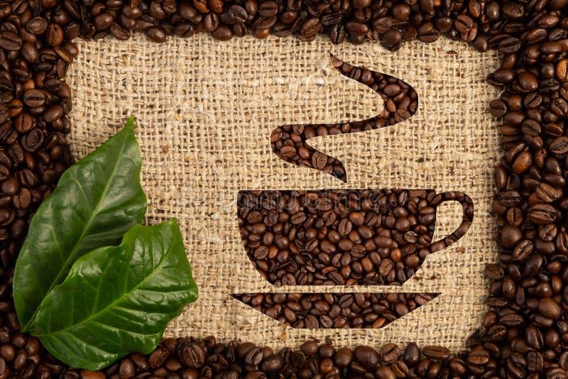 Símbolo de la taza de café como concepto del aroma y del olor imagen de archivo libre de regalías