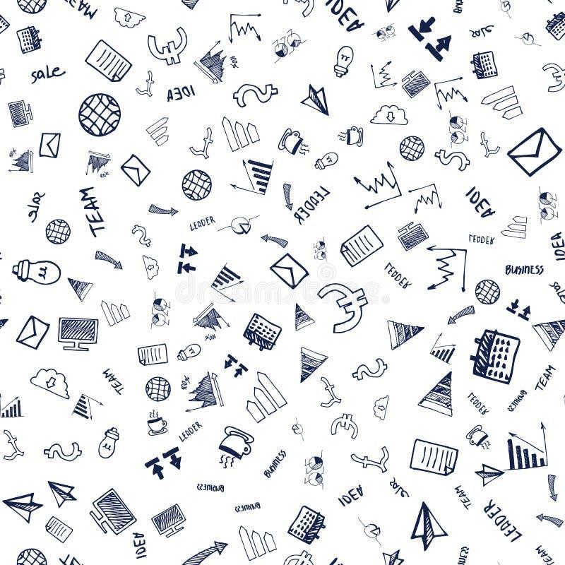 Símbolo de las finanzas, moneda y vector inconsútiles de la carta ilustración del vector