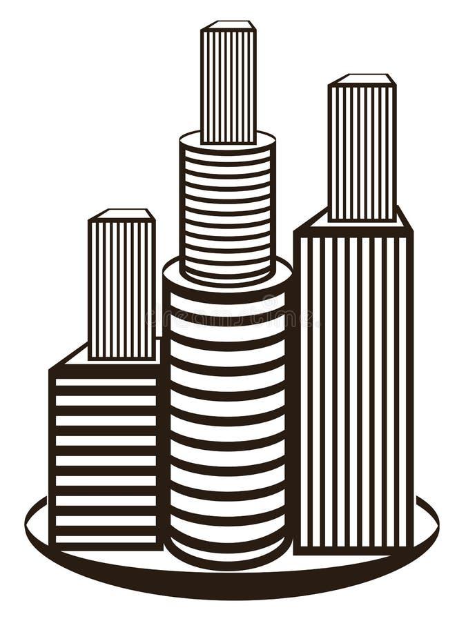 Símbolo De Las Propiedades Inmobiliarias Imagen de archivo