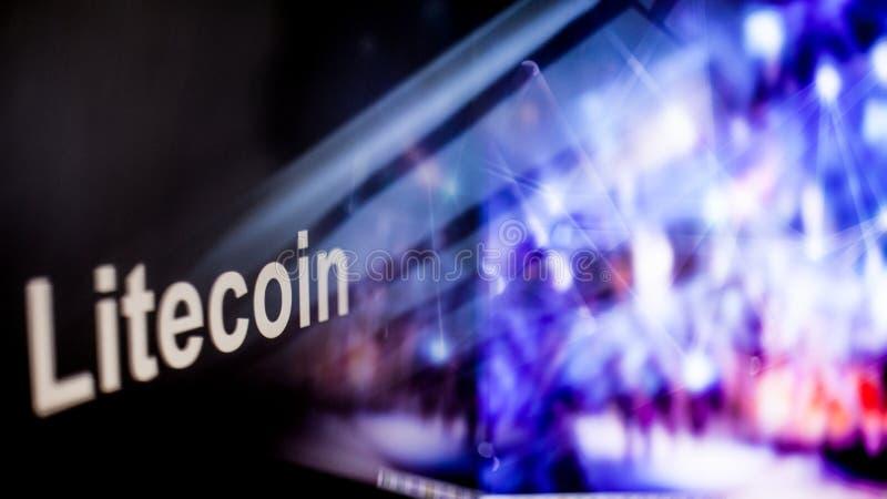 Símbolo de Litecoin Cryptocurrency comportamiento de los intercambios del cryptocurrency, concepto Tecnologías financieras modern libre illustration