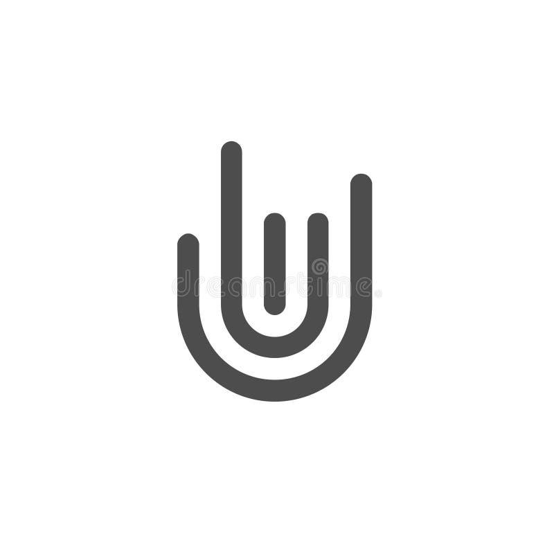 Símbolo de los gestos de mano y logotipo del finger ilustración del vector
