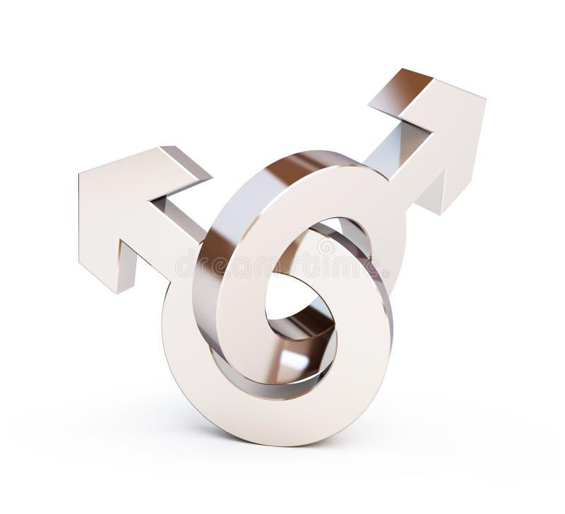 Símbolo de los homosexuales stock de ilustración