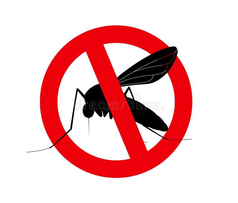 Símbolo de los mosquitos de la matanza libre illustration