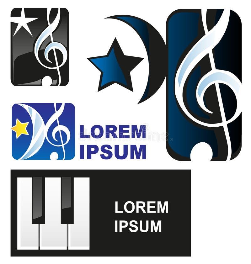 Símbolo de música clásica ilustración del vector