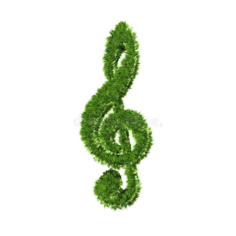 Símbolo de música de la hierba stock de ilustración