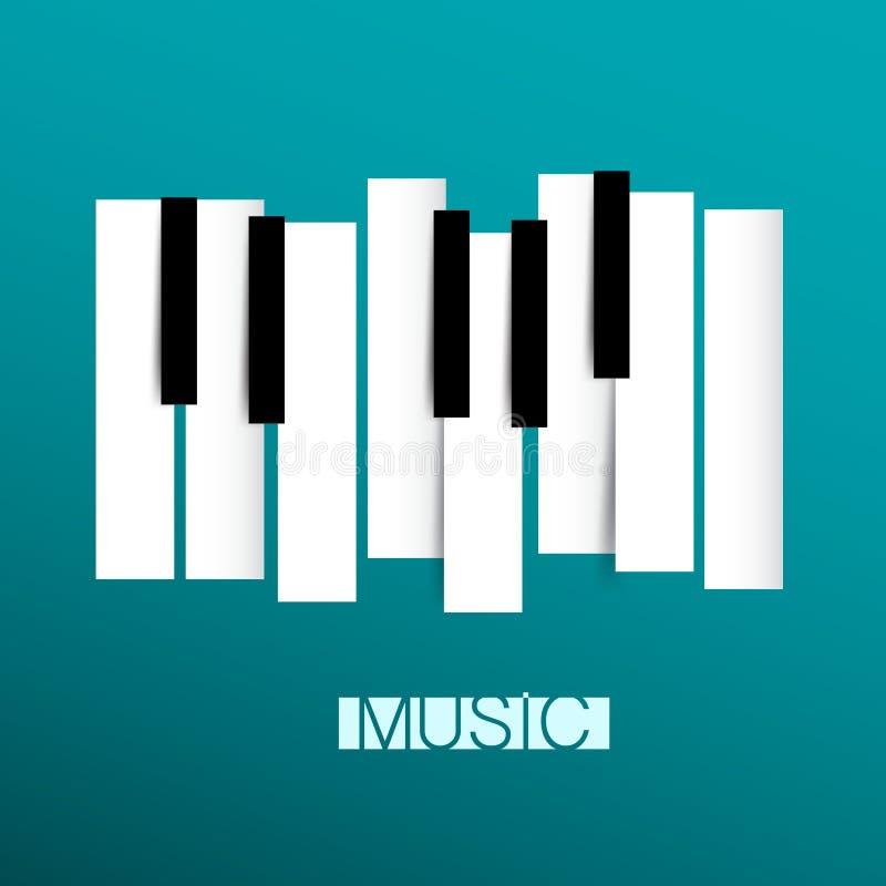 Símbolo de música - piano y vector de Keybord ilustración del vector