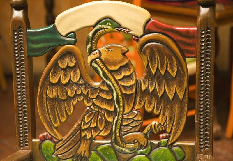 Símbolo de madeira da cadeira de México imagem de stock royalty free