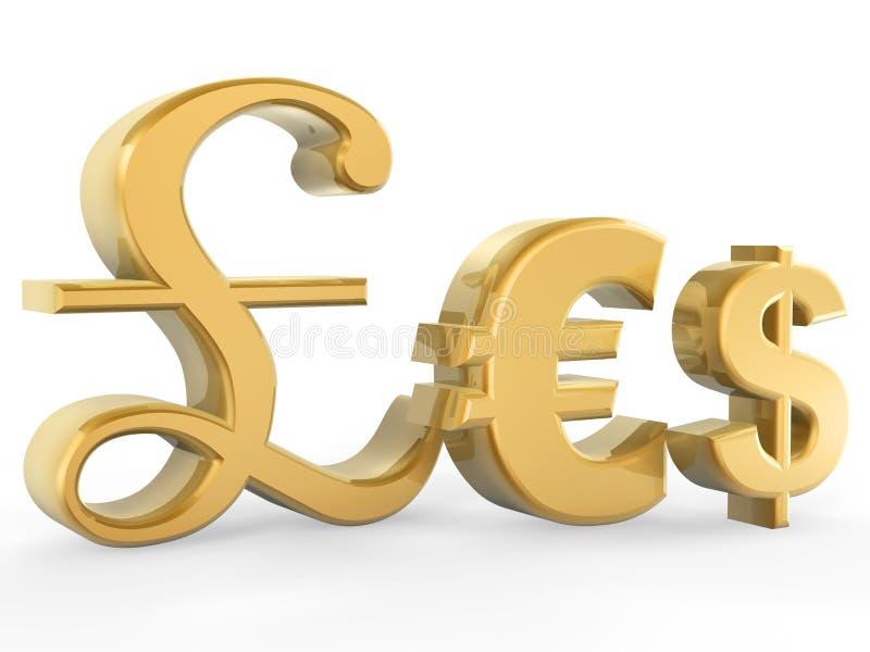 Símbolo de moeda ilustração stock