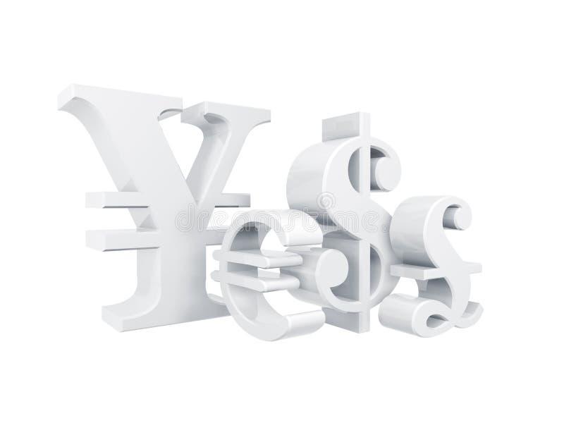 Símbolo de moeda ilustração royalty free