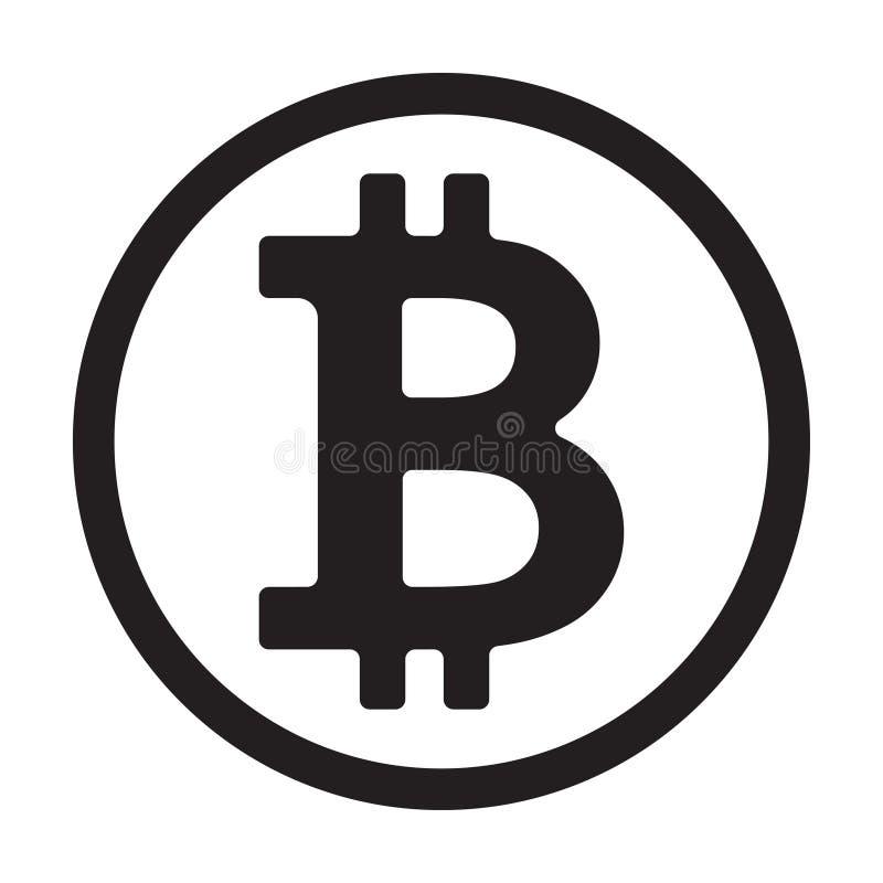 Símbolo de moeda cripto Ilustração do vetor ilustração stock