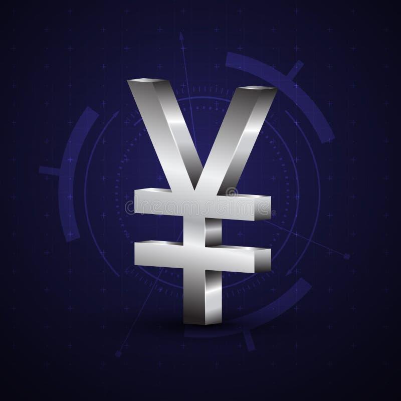 símbolo de moneda de los yenes de 3d Japón libre illustration