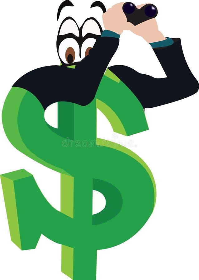 Símbolo de moneda del dólar ilustración del vector