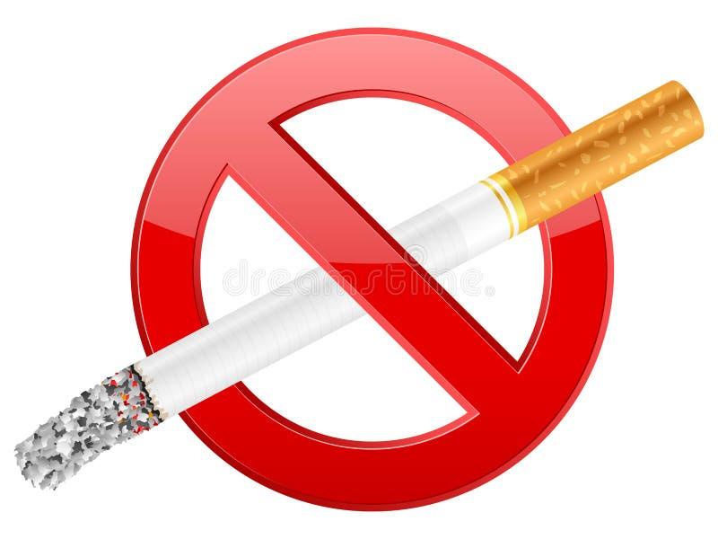 Símbolo de no fumadores ilustración del vector