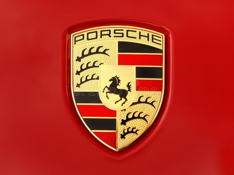 Símbolo de París Francia de la opinión frontal de Porsche foto de archivo