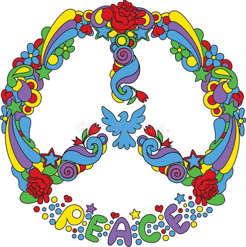 Símbolo de paz ilustração stock