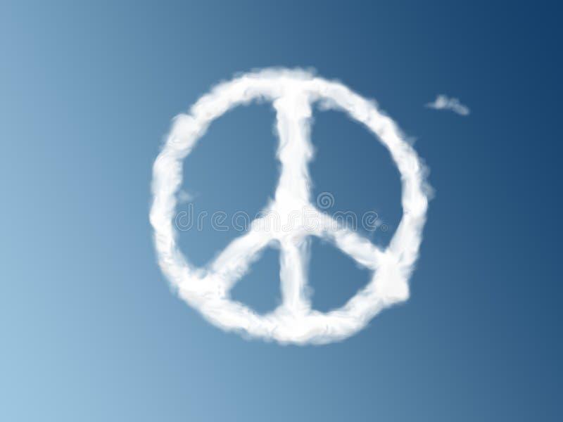 Símbolo de paz como uma nuvem ilustração royalty free