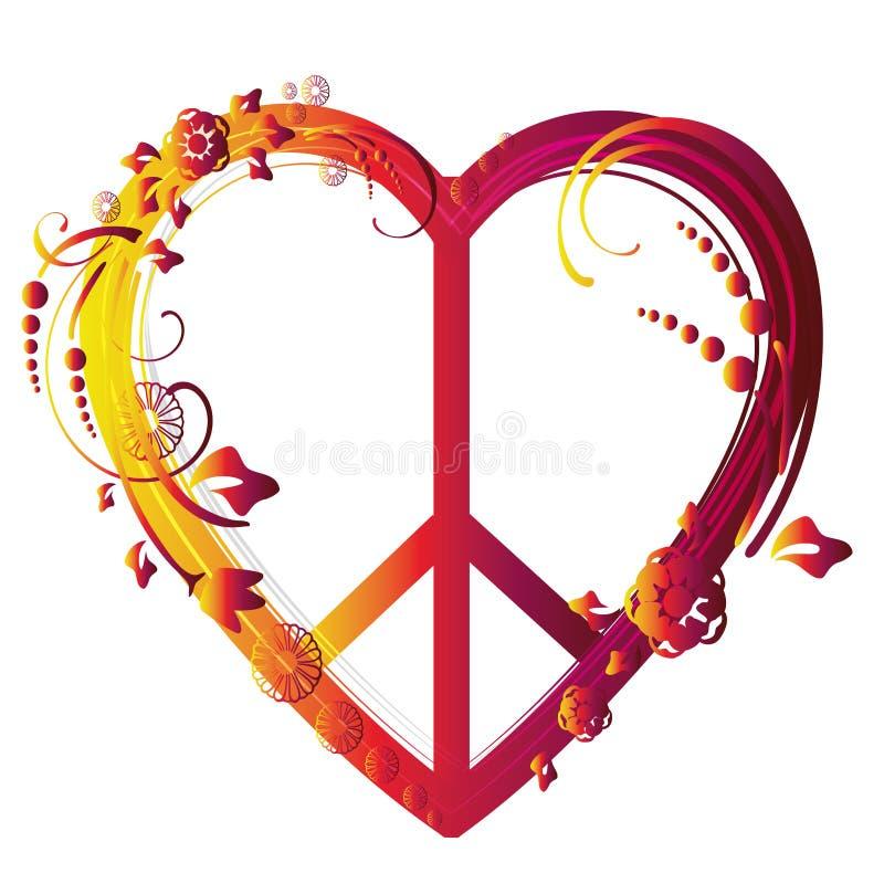 Símbolo de paz del corazón ilustración del vector. Ilustración de ...