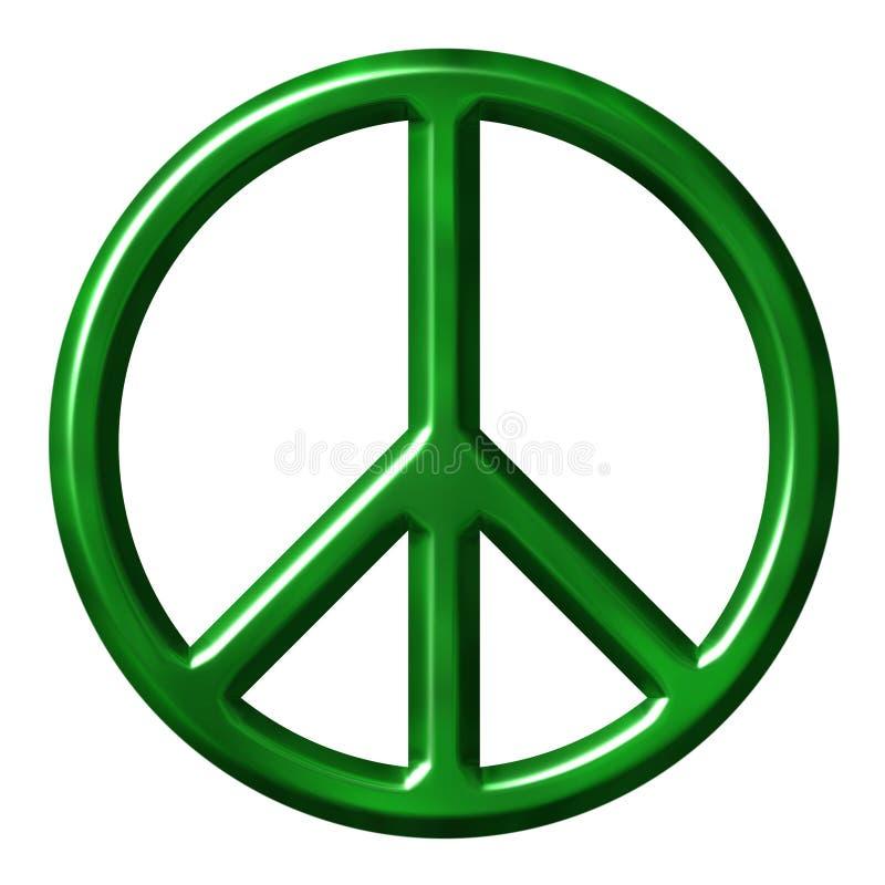 Símbolo de paz ecológico ilustração royalty free