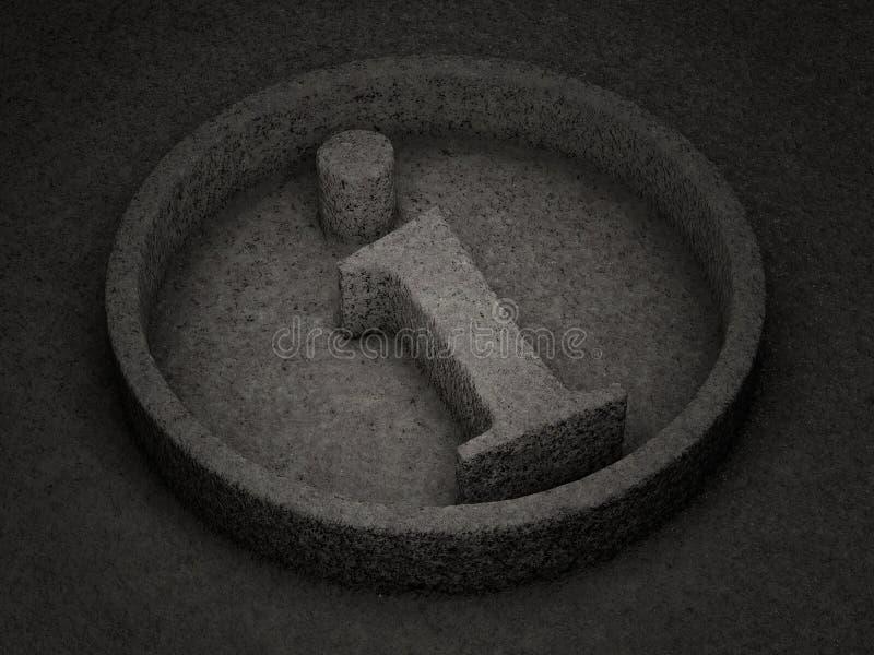 Símbolo de pedra da informação ilustração royalty free