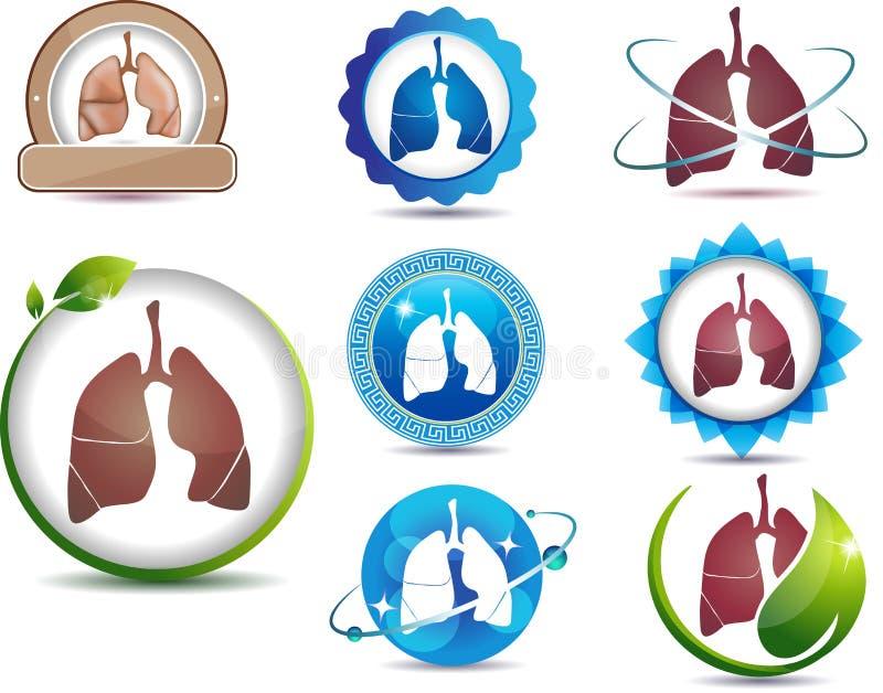 Símbolo de pulmones stock de ilustración