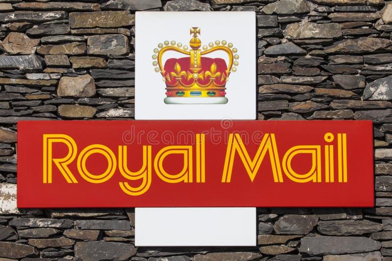 Símbolo de Royal Mail imagens de stock royalty free