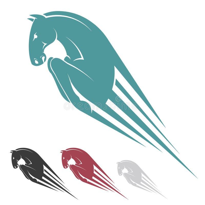 Símbolo de salto do cavalo ilustração stock