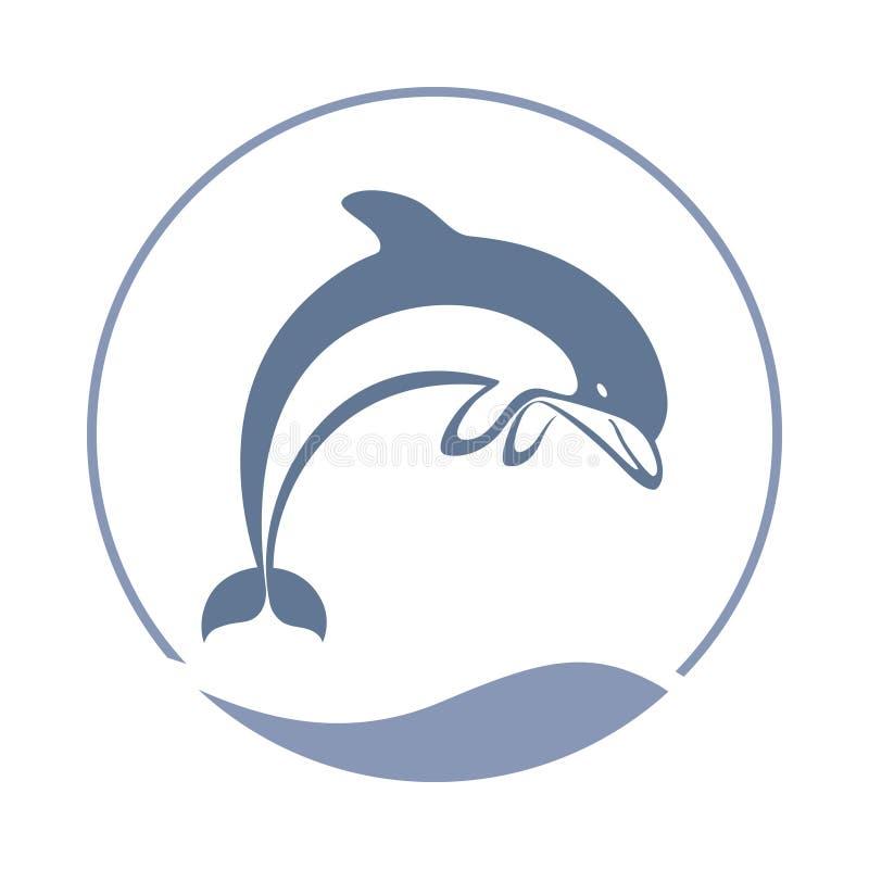 Símbolo de salto do golfinho ilustração do vetor