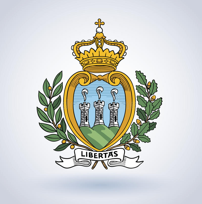 Símbolo de San Marino, ejemplo del vector libre illustration