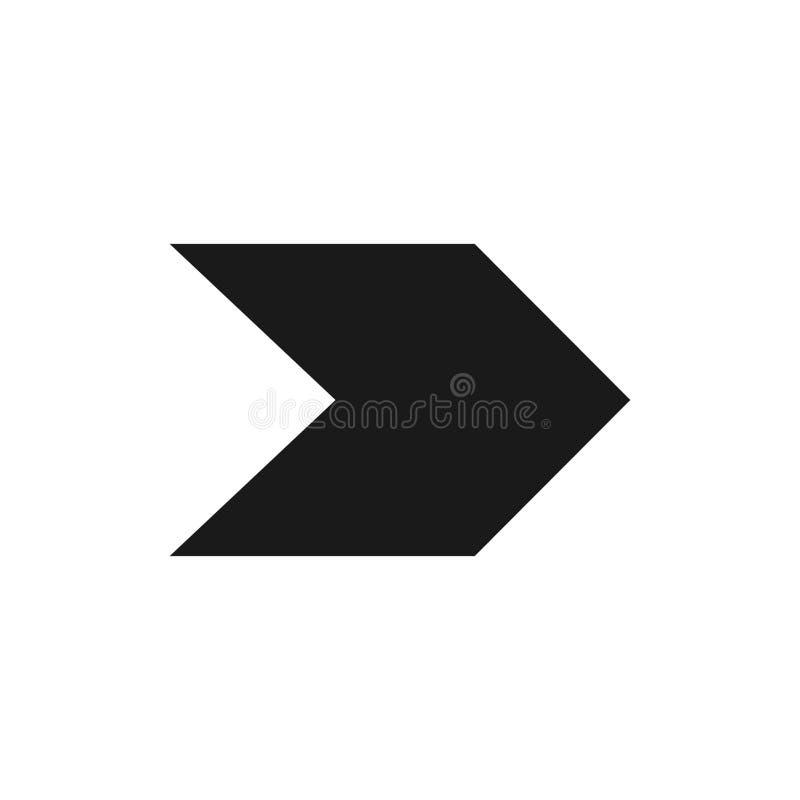 Símbolo de seta para a direita, parte 16 ilustração stock