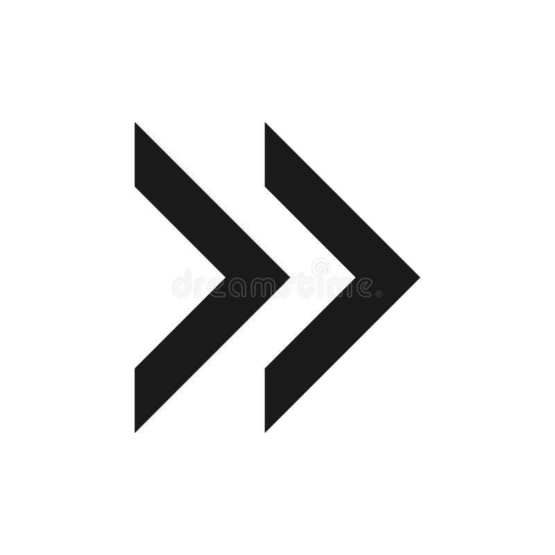 Símbolo de seta para a direita, parte 14 ilustração stock
