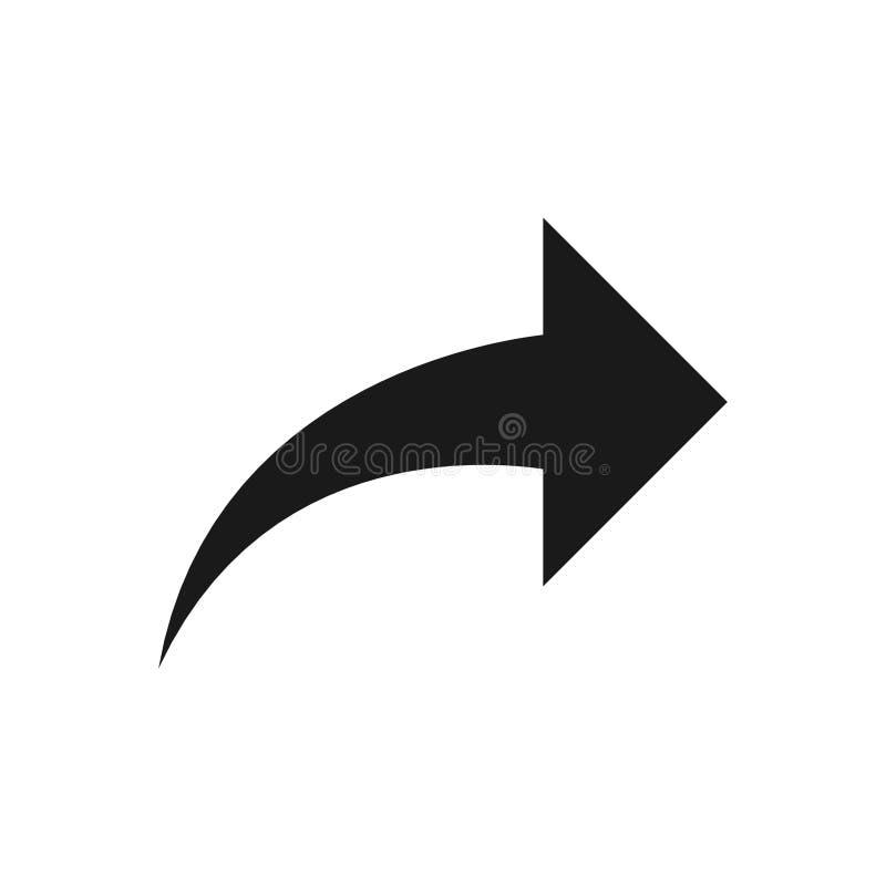 Símbolo de seta para a direita, parte 13 ilustração do vetor