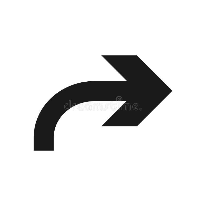 Símbolo de seta para a direita, parte 12 ilustração stock