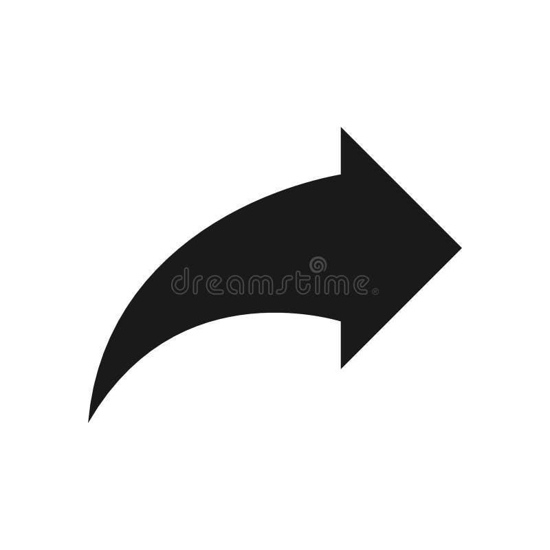 Símbolo de seta para a direita, parte 11 ilustração do vetor