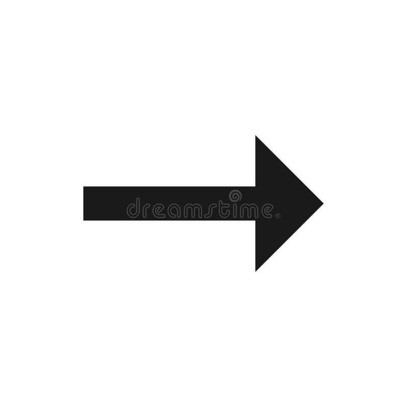 Símbolo de seta para a direita, parte 10 ilustração royalty free