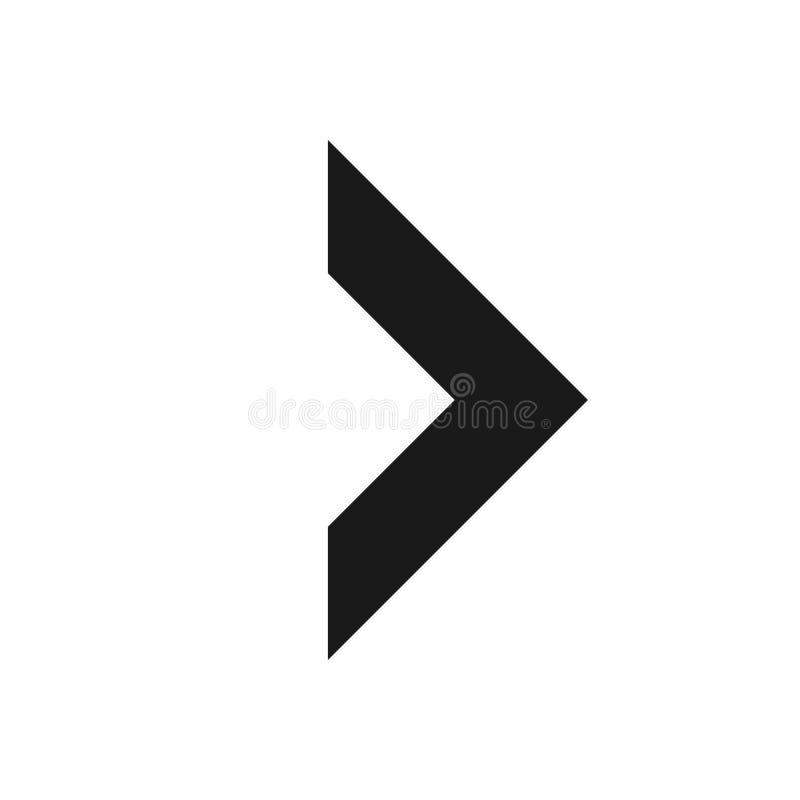 Símbolo de seta para a direita, parte 9 ilustração stock