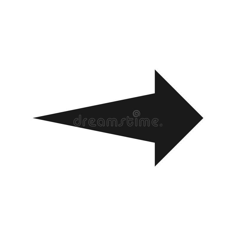 Símbolo de seta para a direita, parte 7 ilustração stock