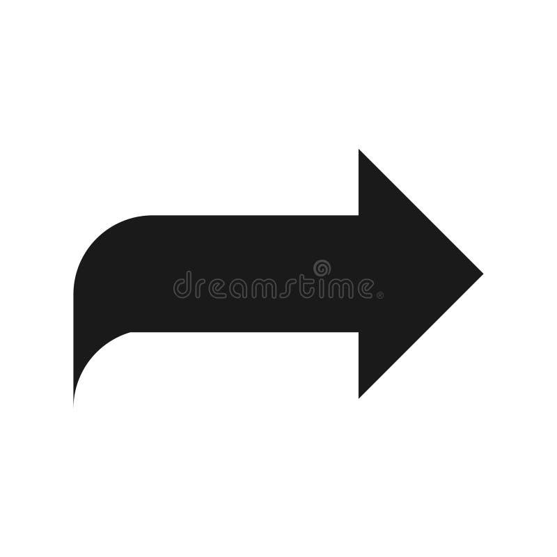Símbolo de seta para a direita, parte 5 ilustração royalty free