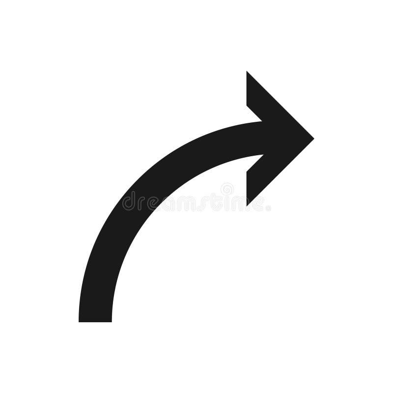 Símbolo de seta para a direita, parte 2 ilustração do vetor