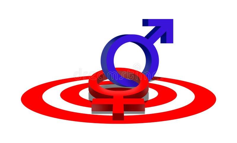 Símbolo de sexo ilustração do vetor